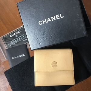 Chanel tri-fold Wallet with CoCo Button